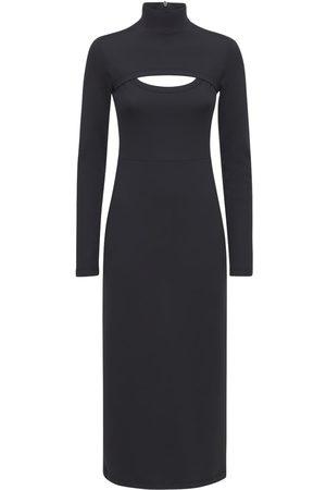 AMBUSH Cut Out Long Sleeve Midi Dress