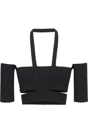 AMBUSH Women Tops - Off-the-shoulder Viscose Blend Knit Top