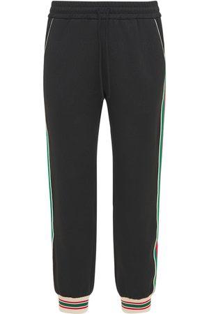 Gucci Gg Jersey Jacquard Jogging Pants