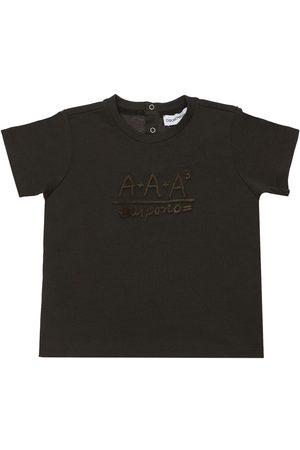 Emporio Armani Boys T-shirts - Logo Print Cotton Jersey T-shirt