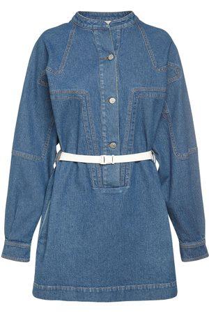 Stella McCartney Cotton Denim Vintage Wash Mini Dress