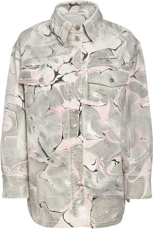STELLA MCCARTNEY Marble Wash Cotton Denim Jacket