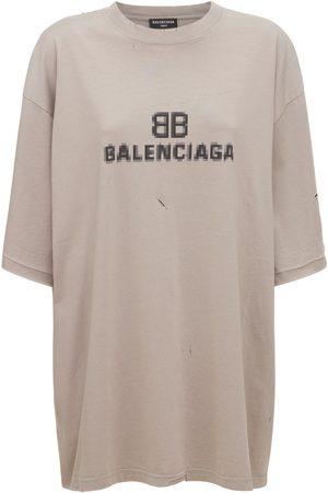 Balenciaga Printed Cotton Jersey T-shirt