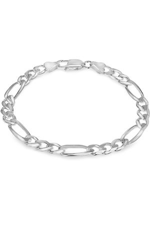 GOLDSMITHS Sterling Silver Mens 8 Inch 6.5mm Figaro Bracelet