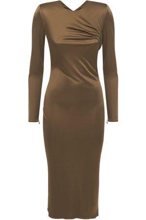 VERSACE Women Casual Dresses - Draped Jersey Midi Dress
