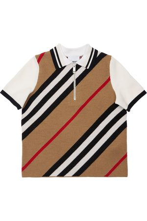 Burberry Boys Polo Shirts - Merino Wool Blend Polo Shirt