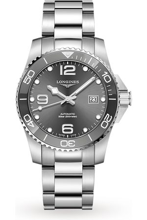 Longines Men Watches - HydroConquest Sunray Grey Dial 41mm Automatic Diving Mens Watch
