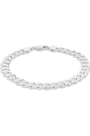 GOLDSMITHS Sterling Silver Mens 8 Inch Square Link Curb Bracelet