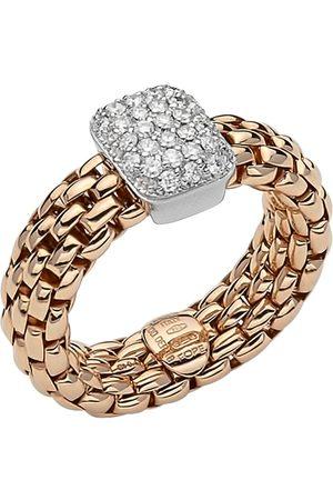 FOPE 18ct Rose & White Gold Flex'it Vendome Ring