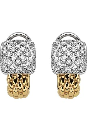 FOPE 18ct Yellow & White Gold Flex'it Vendome Earrings