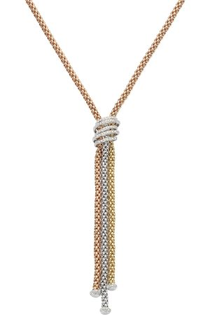 FOPE 18ct Tri Colour Gold Solo MiaLuce Necklace