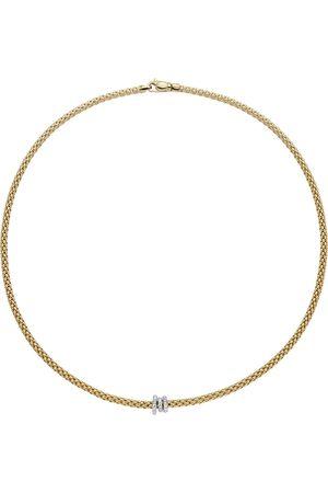 FOPE 18ct Yellow & White Gold Flex'it Prima Necklace