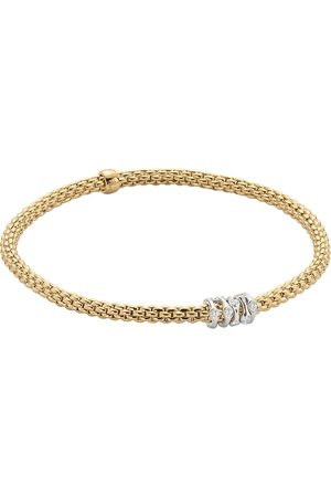 FOPE 18ct Yellow & White Gold Flex'it Prima Bracelet