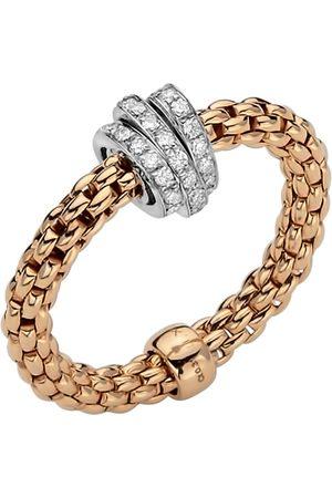 FOPE 18ct Rose & White Gold Flex'it Prima Ring