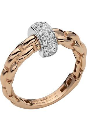 FOPE Women Rings - 18ct Rose & White Gold Flex'it Ring