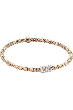 FOPE 18ct Rose & White Gold Flex'it Prima Bracelet