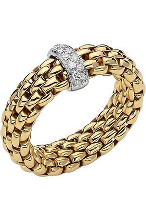 FOPE 18ct Yellow & White Gold Flex'it Vendome Ring