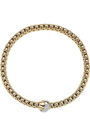 FOPE 18ct Yellow & White Gold Flex'it Vendome Bracelet