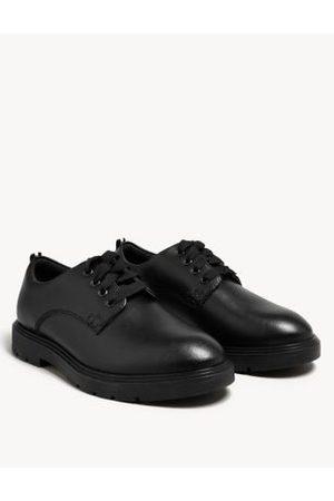 Marks & Spencer Girls School Shoes - Unisex Boys Girls Kid's Leather Freshfeet™ School Shoes (13 Small - 9 Large) - 13 SSTD