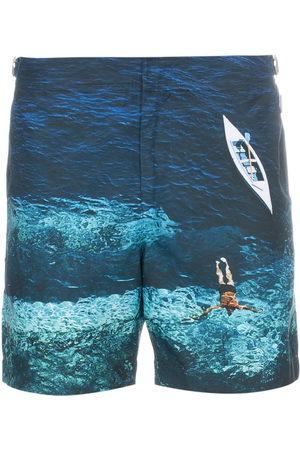 Orlebar Brown Men Swim Shorts - Deep Sea Mid-Length Swim Shorts