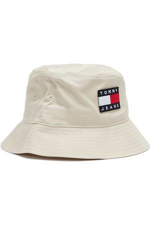 Tommy Hilfiger Men Hats - Tommy Jeans Heritage Mens Smooth Stone Bucket Hat
