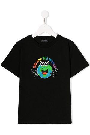 Balenciaga Boys Short Sleeve - You Are The World T-shirt