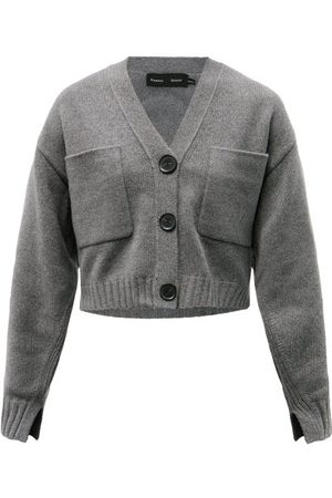 Proenza Schouler Cropped Upcycled Cashmere-blend Cardigan - Womens