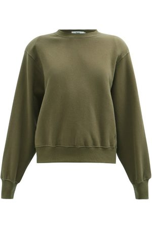 The Frankie Shop Women Sweatshirts - Vanessa Padded-shoulder Organic-cotton Sweatshirt - Womens - Khaki