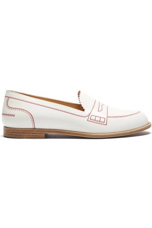 Christian Louboutin Women Loafers - Mocalaureat Contrast-inlay Leather Loafers - Womens
