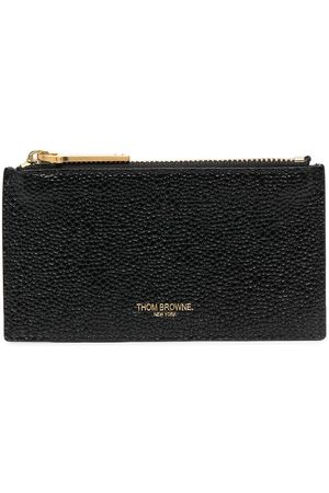 Thom Browne Men Purses & Wallets - Wallet with zip and signature stripe detail