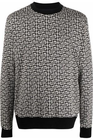 Balmain Men Sweatshirts - Monogram-motif sweatshirt