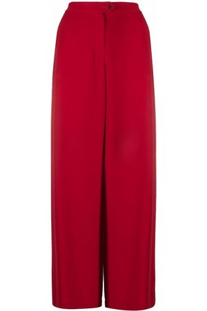 Aspesi High-waisted wide tailored trousers