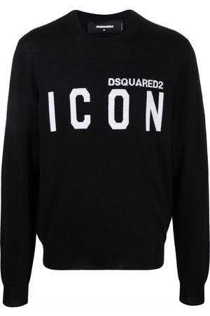 Dsquared2 Men Sweatshirts - Slogan-print wool jumper