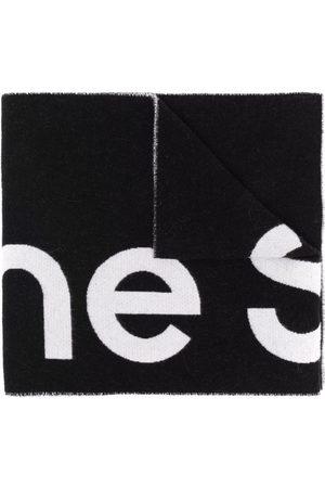 Acne Studios Scarves - Oversized jacquard logo scarf