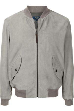 Polo Ralph Lauren Gunners zip-up suede bomber jacket