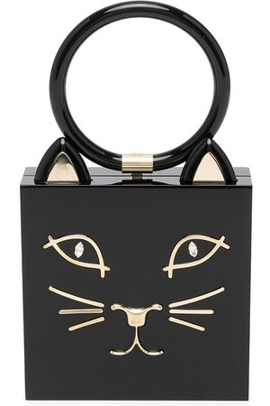 Charlotte Olympia Women Clutches - Cat-print clutch bag