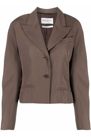 Yves Saint Laurent 2000s peaked lapels buttoned jacket