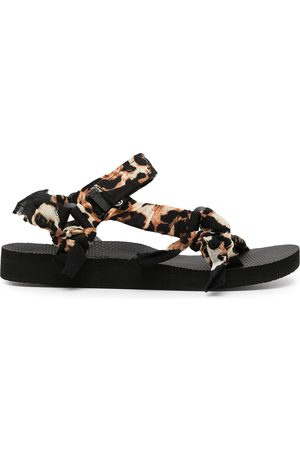 Arizona Love Women Hair Accessories - Trekky leopard-print bandana sandals