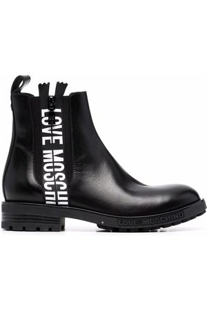 Love Moschino Women Chelsea Boots - Logo-tape Chelsea boots