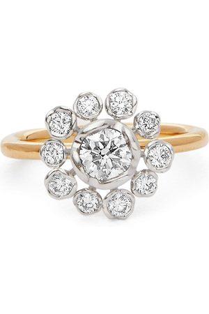 ANNOUSHKA Women Rings - 18kt yellow and 18kt white Marguerite diamond ring