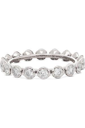 ANNOUSHKA 18kt white gold Marguerite diamond eternity ring