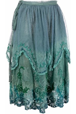 A.N.G.E.L.O. Vintage Cult 1980s floral-embroidered lace skirt