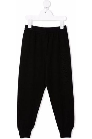 Balmain Boys Trousers - Drop-crotch silk-blend track pants