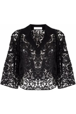 VALENTINO Lace cropped blouse