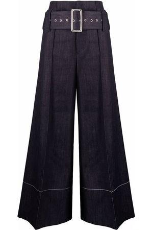 10 CORSO COMO Women Trousers - High-waist belted denim trousers