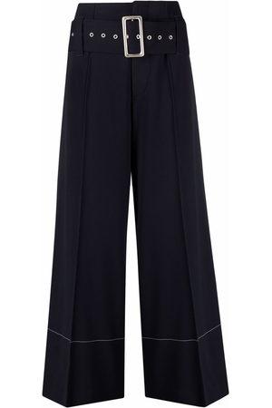 10 CORSO COMO Women Wide Leg Trousers - High-waist belted wide-leg trousers