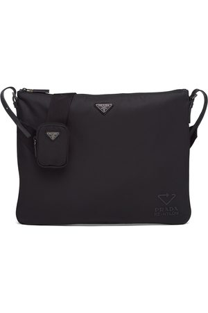 Prada Men Purses & Wallets - Re-Nylon logo-plaque messenger bag