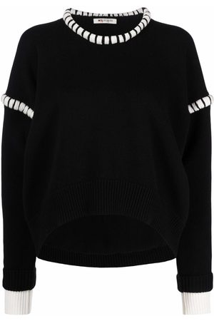 Ports 1961 Women Jumpers - Layered contrast-trim knit jumper