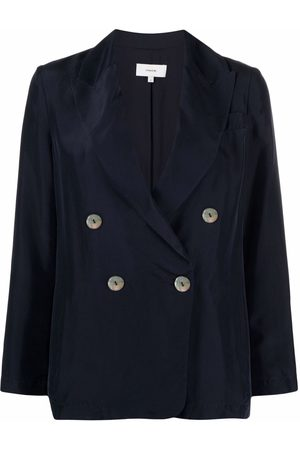 Vince Double-breasted silk blazer