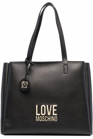 Love Moschino Women Handbags - Pebbled logo tote bag